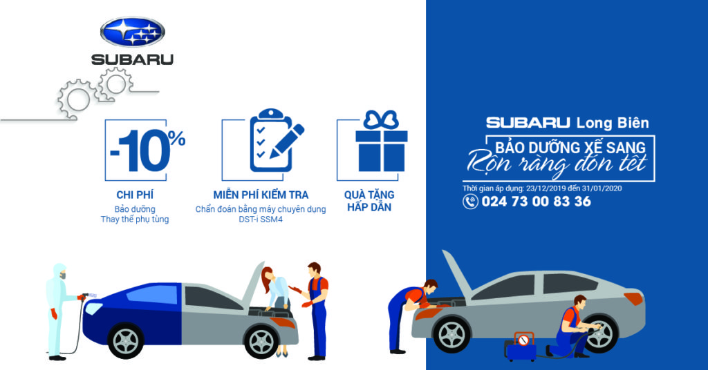 Bảo dưỡng xe tại Subaru Long biên
